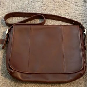 Coach laptop leather bag